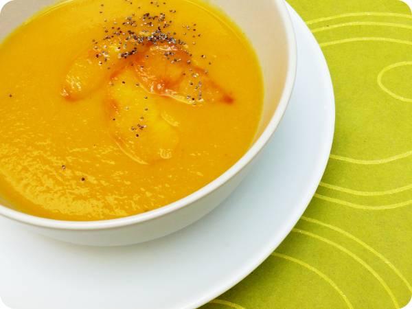 Crema freda de pastanaga i préssec